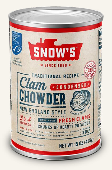 SNOW'S® NEW ENGLAND STYLE CLAM CHOWDER - CONDENSED