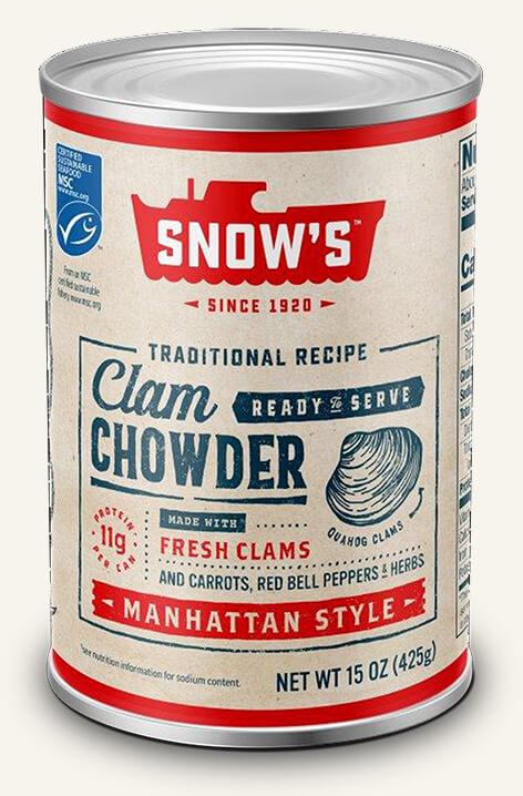 SNOW'S® MANHATTAN STYLE CLAM CHOWDER - READY TO SERVE!