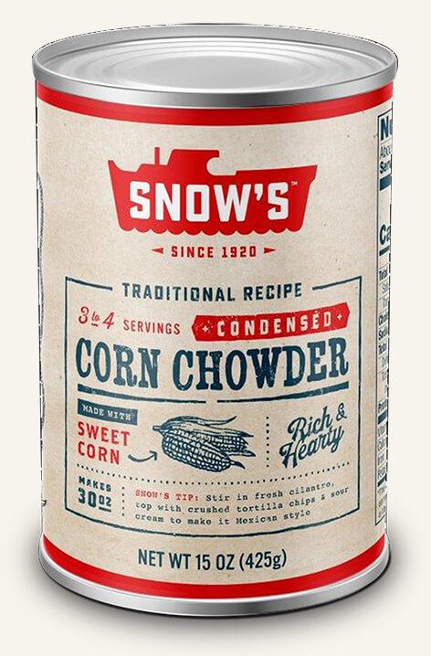 SNOW'S® CORN CHOWDER - CONDENSED